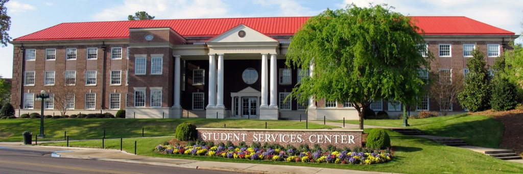 The exterior of Martindale Student Services Center.